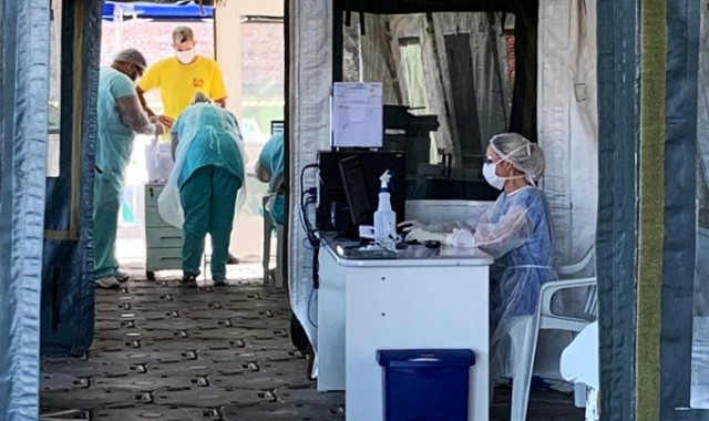 Ambulatório de campanha atendeu a seis pacientes em duas horas