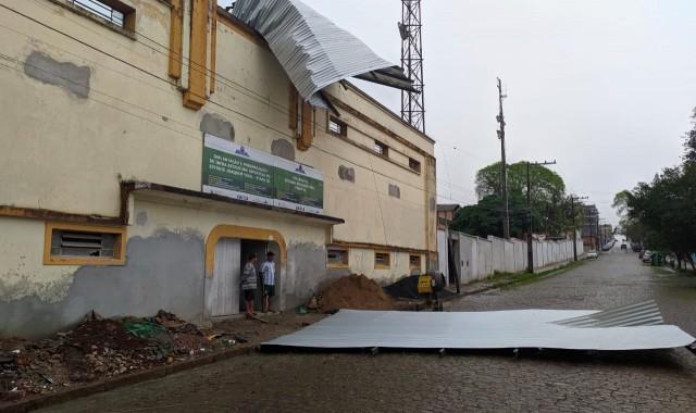 Temporal provoca estragos em Cachoeira do Sul